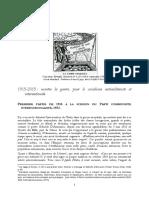 Histoire de la gauche communiste italienne