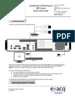 exacqVision 2U Rackmount NVR IP Camera Server Quick Start 4-08