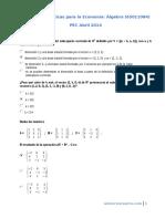 PEC Álgebra 2014 Soluciones