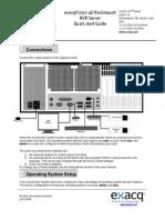 exacqvision 4U NVR IP Camera ServerQuick Start 4-08