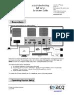 exacqvision desktop nvr server quick start