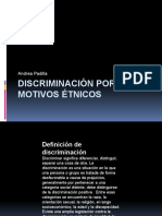 Discriminación por motivos étnicos
