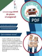Prix & conseils pour déménagement de piano sur la Rive-Sud