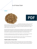 Health Benefits of Horse Gram