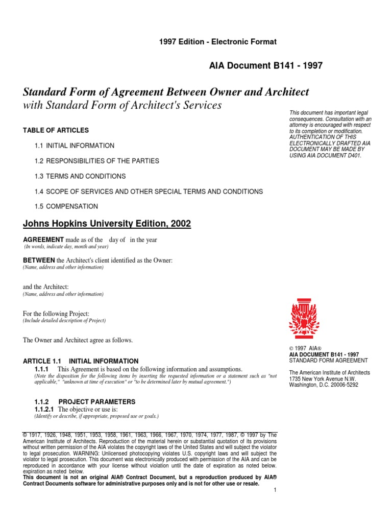 Form Of Agreement Between Owner And Architect Arbitration Architect - Aia format invoice online grocery store