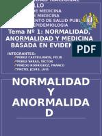 Normalidad Anormalidad Medicina Basada en Evidencia
