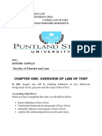 Chapter One Law of Tort