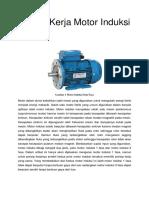 Prinsip Kerja Motor Induksi 1 Fasa