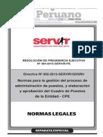 Directiva n 002 2015 Servirgdsrh Normas Para La Gestion d Resolucion No 304 2015 Servir Pe 1311302 1