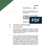 Cir54 SOBRE ACCESIBILIDAD Y DESPLAZAMIENTO DE PERSONAS CON DISCAPACIDAD EN EDIFICIOS Y LUGARES DONDE CONCURRE PUBLICO.