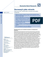 Germanys Jobs Miracle Short Time Work, Flexible Labour Contracts and Healthy Companies