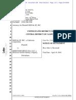 Signal IP v Mercedes Notice of Settlement