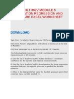 Hlt362v Hlt 362v Module 4 Anova Excel Worksheet