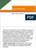 Hiponatremia - Oprea Elena-dana
