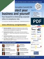 The 3rd Annual Anti-Corruption Summit USA Brochure