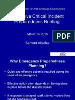 Emergency/Security Planning Webinar