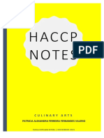 Notes Haccp
