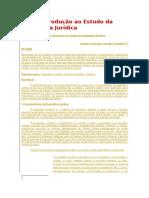 Breve Introdução Ao Estudo Da Dogmática Jurídica