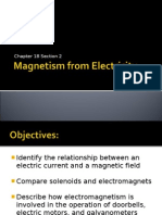 Magnetism From Electricity Ch 18.2 8th