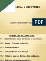 El Acta Policial y Sus Partes