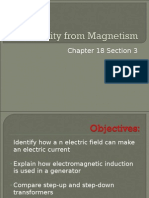 Electricity From Magnetism Ch 18.3 8th