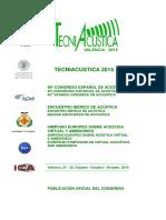 Tecniacústica 2015 _ Valencia _ Isbn _ Índice