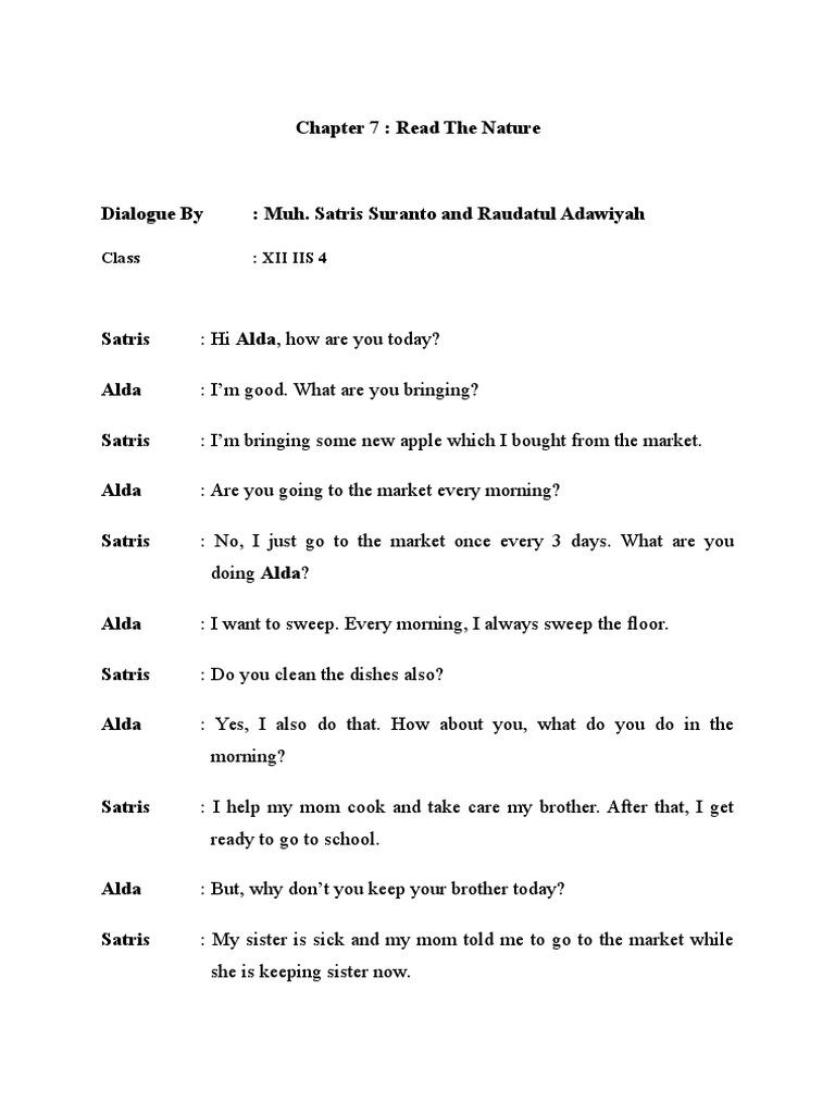 Percakapan Bahasa Inggirs 2 Orang