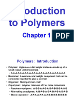Chapter 1 Intro Polymers
