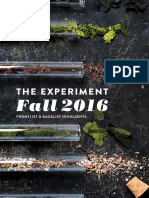 The Experiment Fall 2016 Catalog