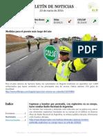 Boletín de noticias KLR 23MAR2016