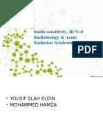 Radioactivity, 4R's and acute radiation syndrome