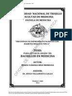 Rios (s.f) Frecuencia de Depresión en Pacientes Con Diabetes Mellitus Tipo 2.