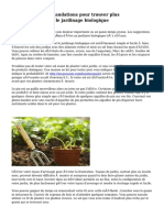 Suivez ces recommandations pour trouver plus d'informations sur le jardinage biologique
