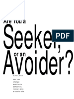 Are You a Seeker or an Avoider, Berman (2002)