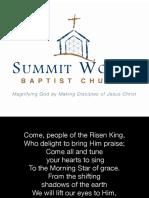Lyrics Resurrection Sunday Morning Gathering - March 27, 2016