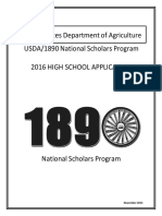 2016 1890 Scholars High School Application OMB Approved 11-24-15r