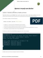 Rodando Um Wordpress e Mysql Com Docker