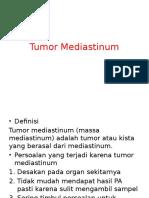 Tumor Mediastinum - Kuliah Bedah UI