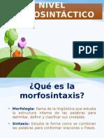 Intervención fonoaudiológica en Nivel-Morfosintáctico