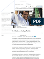 Ibn Khaldun and Today's Pakistan Imran Khan Post
