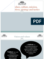 Cima Edition 18 Vision, Values, Culture, Mission, Aims, Objectives, Strategy and Tactics