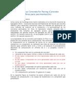 Resumen (español) No-Fines Pervious Concrete for Paving