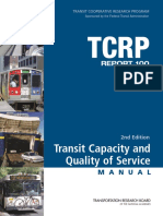 Transit Capacity and Quality of Service