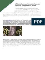 Onoranze Funebri A Milano, Funerale Comunale, Funerale Economico The Basso Costo, Pompe Funebri Milano.