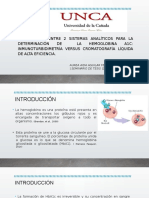 Expo del Artículo COMPARACIÓN ENTRE 2 SISTEMAS ANALÍTICOS PARA LA DETERMINACIÓN DE  LA HEMOGLOBINA A1C