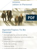 Role of Business Communication in Personal Selling