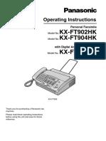 Manual Utilizare Fax Panasonic