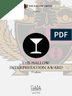 The Hallow Interpretation Award 2016