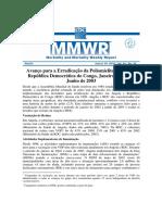 Avanço Para a Erradicação Da Poliomielite Angola e República Democrática Do Congo