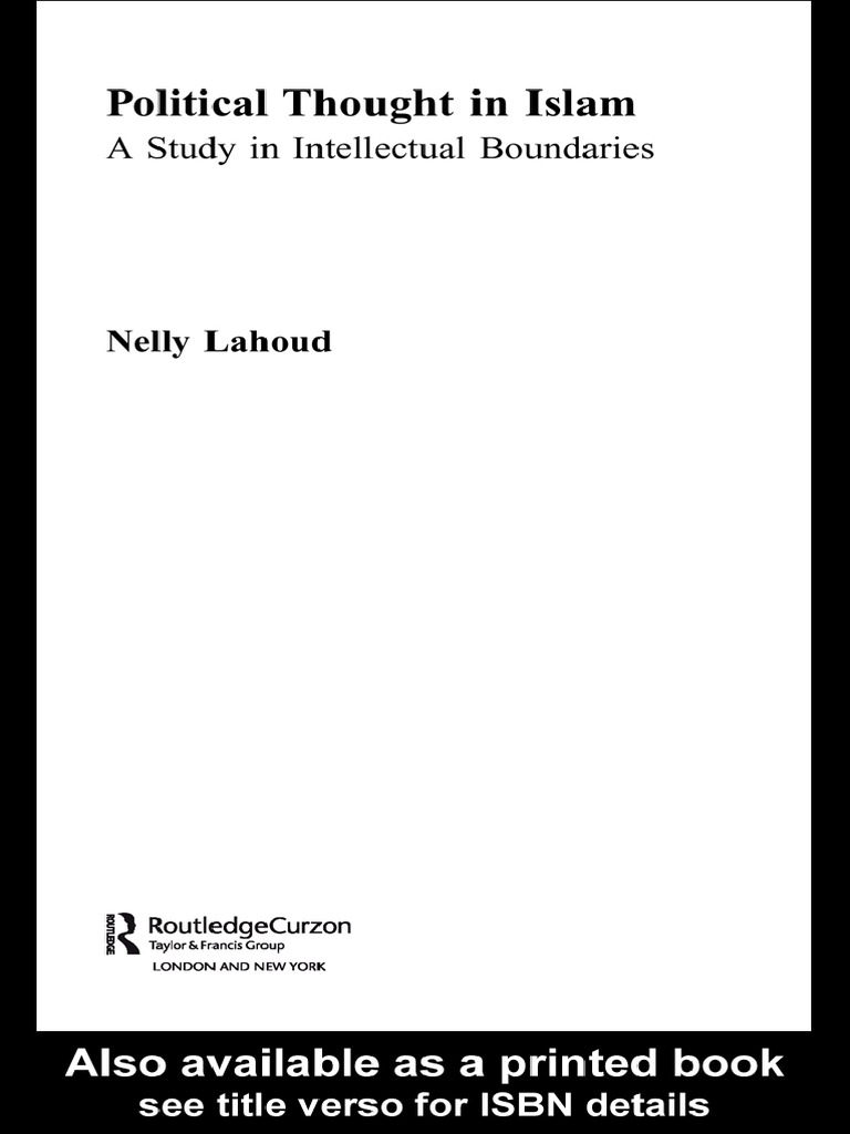 Political Thought In Islam A Study In Intellectual Boundaries  Islamism   Sunni Islam